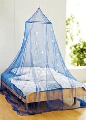 Mosquitero circular y cama con mosquitera for Mosquiteras para camas